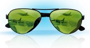 Kacamata anti-laser untuk pilot pesawat