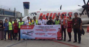 Inaugural Flight Wings Air dari Pontianak Menuju Miri