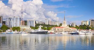 Marine station, Port of Sochi in the central region of Sochi, Russia